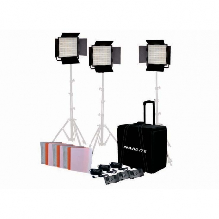 Nanlite 1200SA LED Panel 5600K Studio Light 3 KIT
