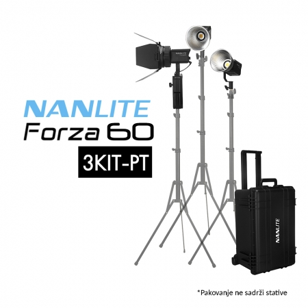Nanlite Forza 60 3KIT-PT LED Monolight