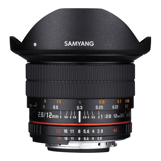 Samyang 12mm f/2.8 ED AS NCS Fisheye za Nikon AE - 2