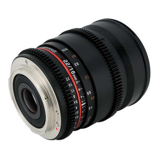 Samyang 16mm T2.2 VDSLR ED AS UMC CS II za Canon - 2