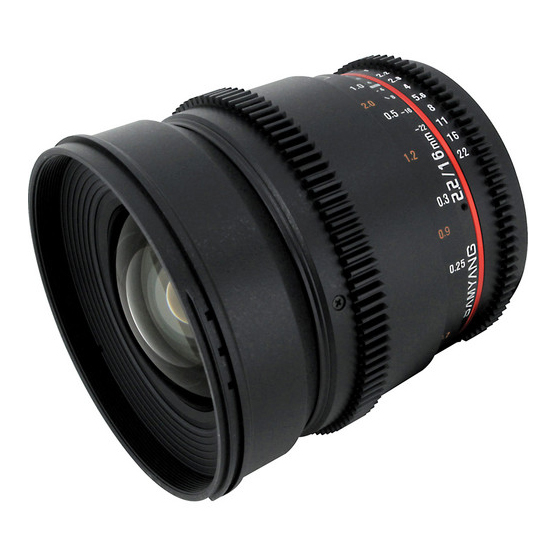 Samyang 16mm T2.2 VDSLR ED AS UMC CS II za Sony - 1
